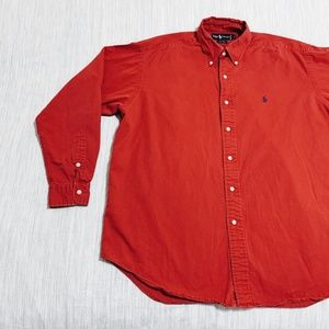 Ralph Lauren Vintage RARE Red 'Blaire' Button Up